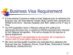 business visa requirement