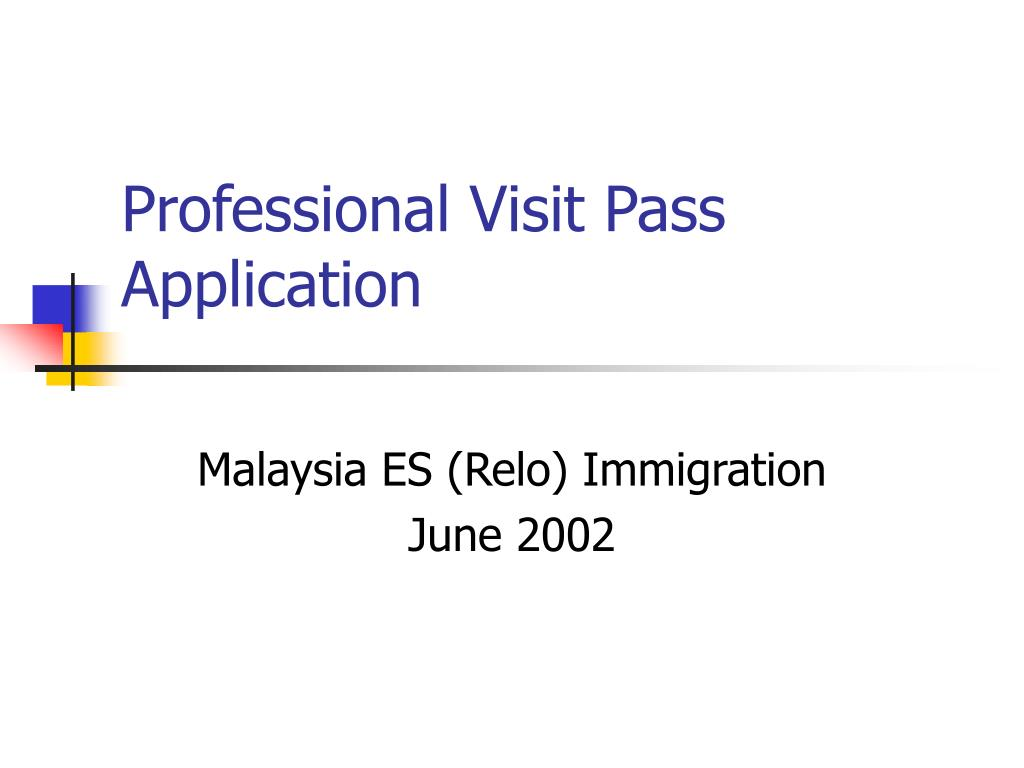 professional visit pass application l.