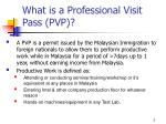 what is a professional visit pass pvp