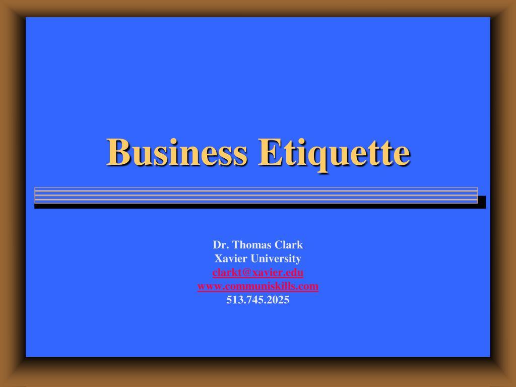 business etiquette l.