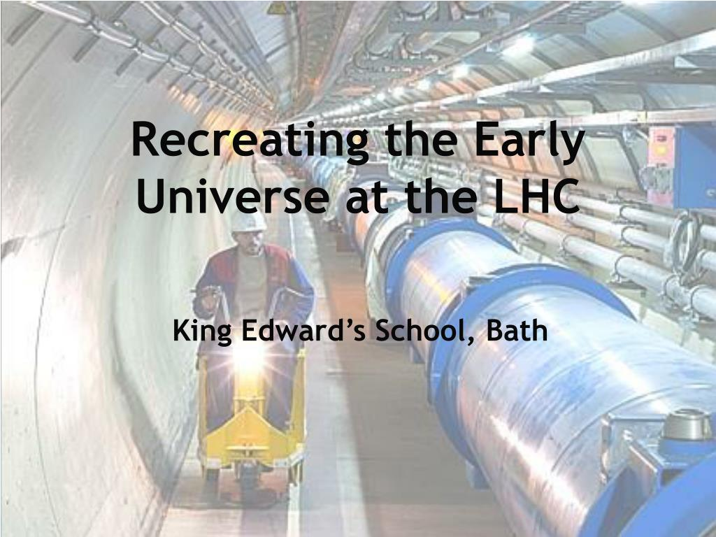 recreating the early universe at the lhc l.