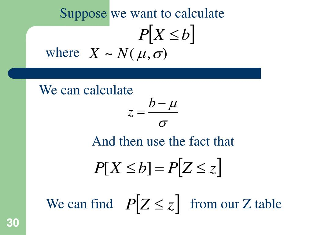 Suppose we want to calculate