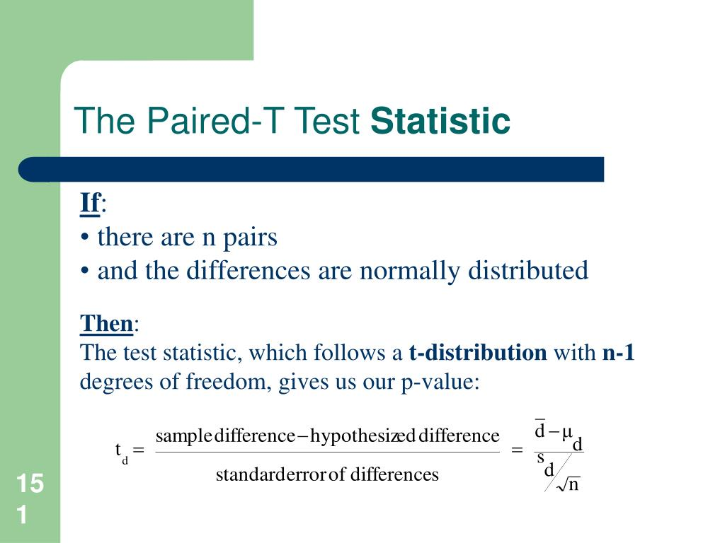 The Paired-T Test