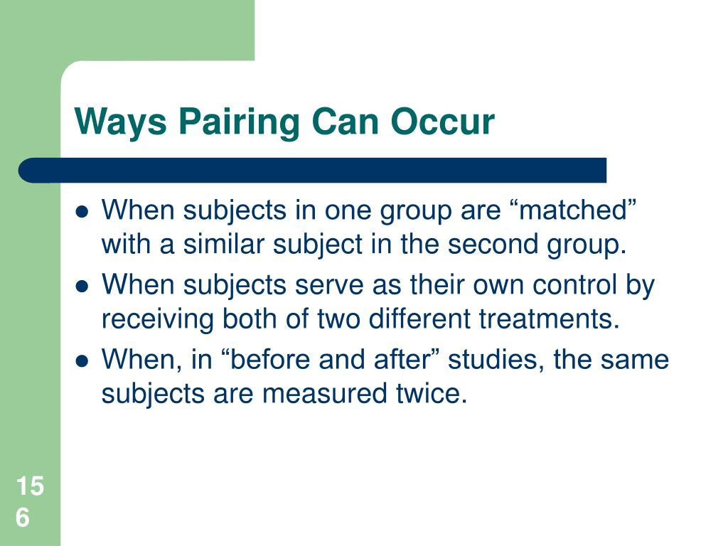 Ways Pairing Can Occur