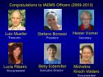 congratulations to iaems officers 2009 2013
