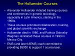 the hollaender courses