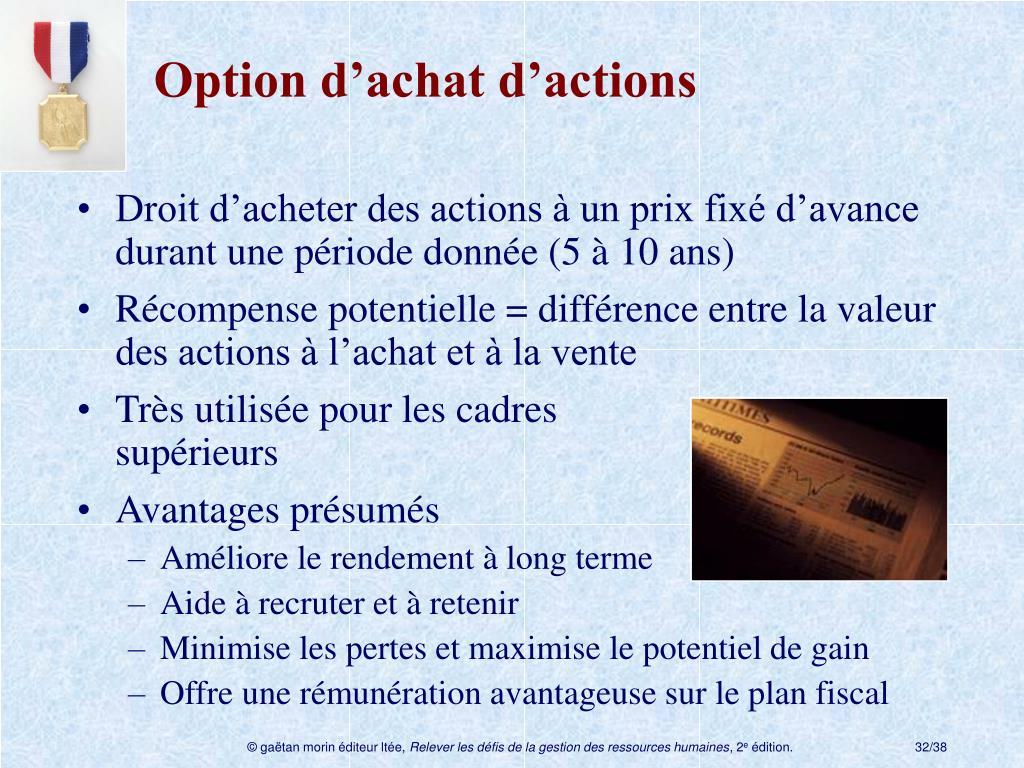 Option d'achat d'actions