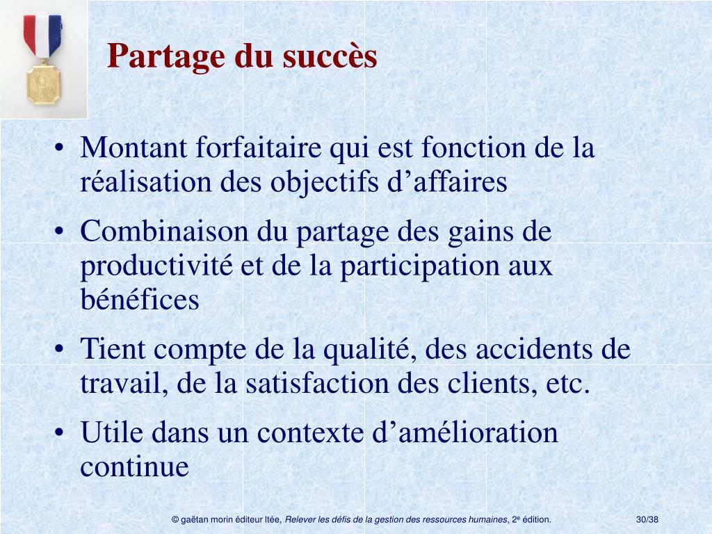 Partage du succès