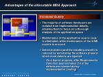advantages of the executable mda approach