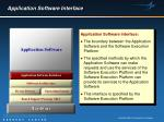 application software interface