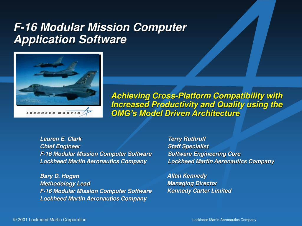 f 16 modular mission computer application software l.