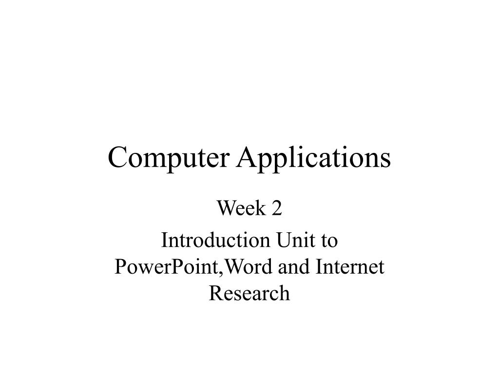 computer applications l.
