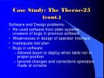 case study the therac 25 cont