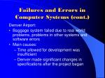 failures and errors in computer systems cont7