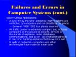 failures and errors in computer systems cont9
