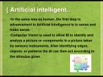 artificial intelligent