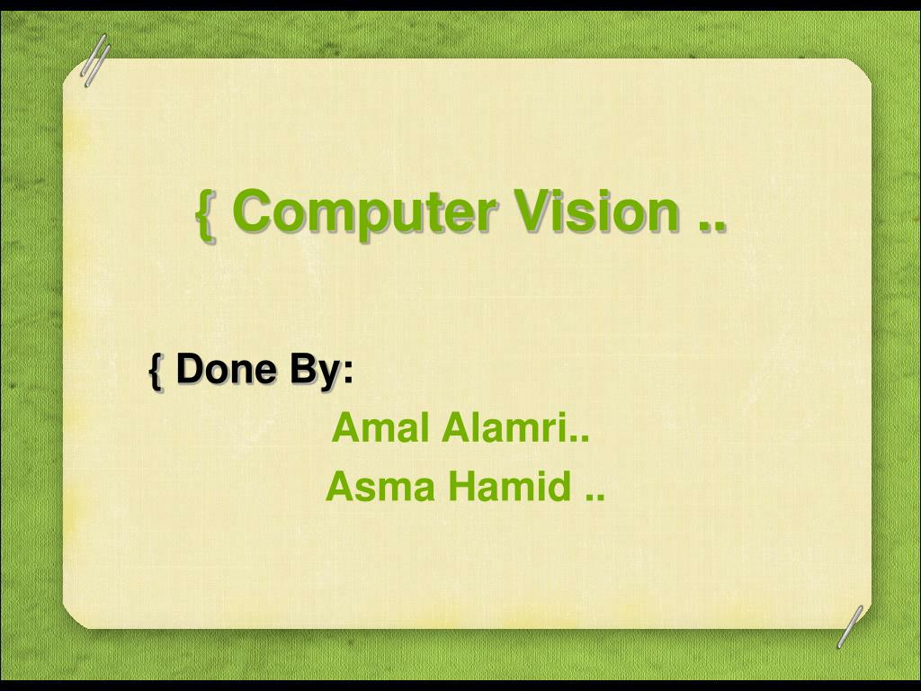 computer vision l.