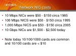 network nic costs