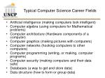 typical computer science career fields