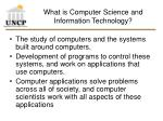 what is computer science and information technology