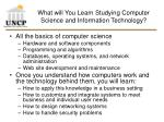 what will you learn studying computer science and information technology
