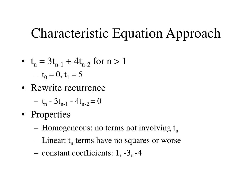 Characteristic Equation Approach