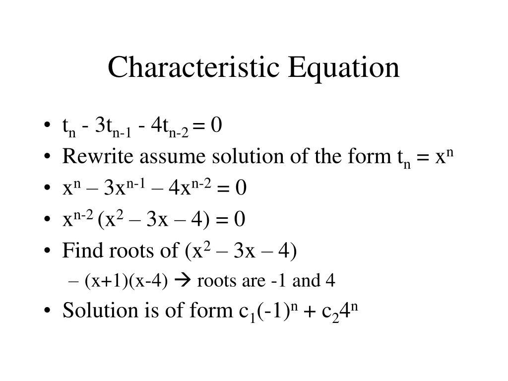 Characteristic Equation