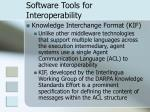 software tools for interoperability26