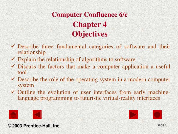 Computer confluence 6 e chapter 4 objectives