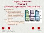 computer confluence 6 e chapter 4 software applications tools for users10