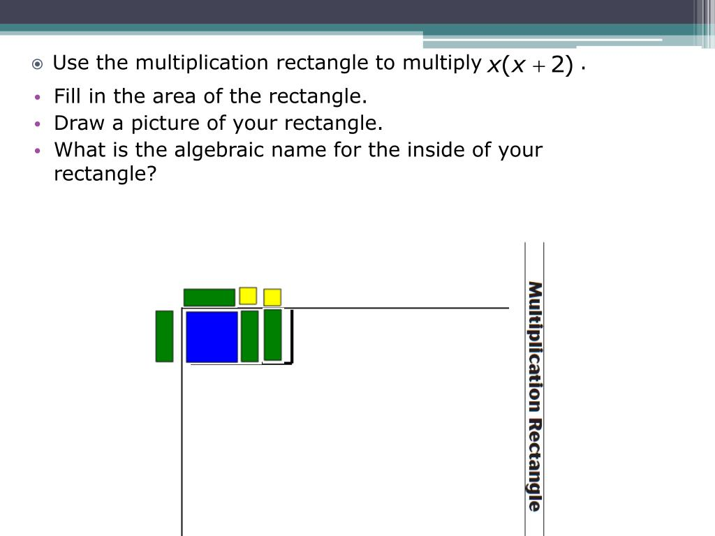 Fill in the area of the rectangle.