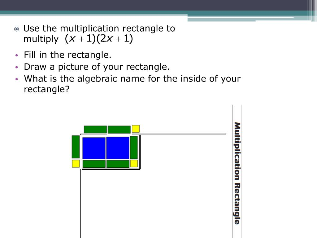 Use the multiplication rectangle to