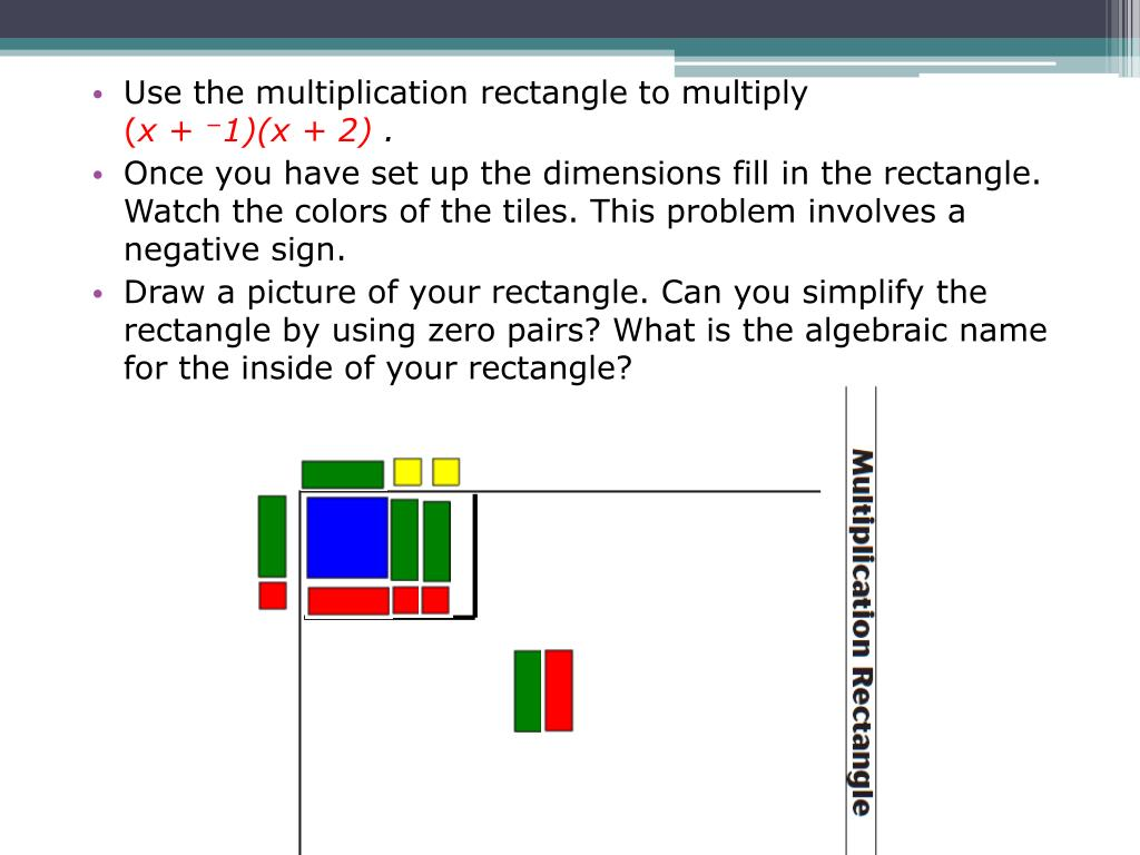 Use the multiplication rectangle to multiply