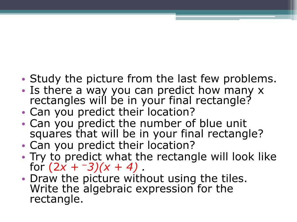 Study the picture from the last few problems.