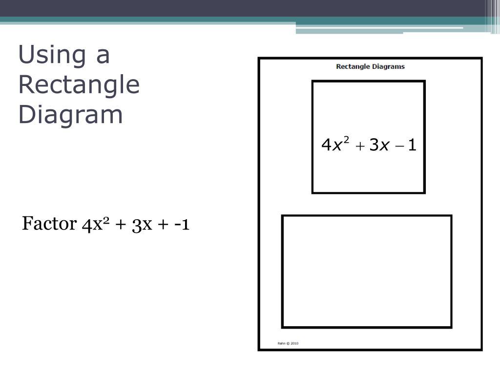 Using a Rectangle Diagram