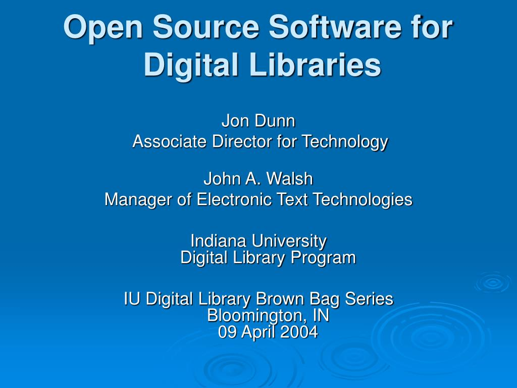 open source software for digital libraries l.