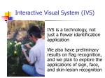 interactive visual system ivs