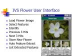 ivs flower user interface