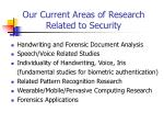 our current areas of research related to security