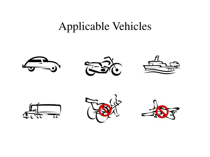 Applicable vehicles