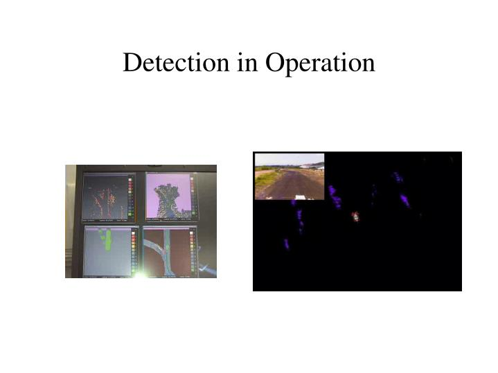 Detection in Operation