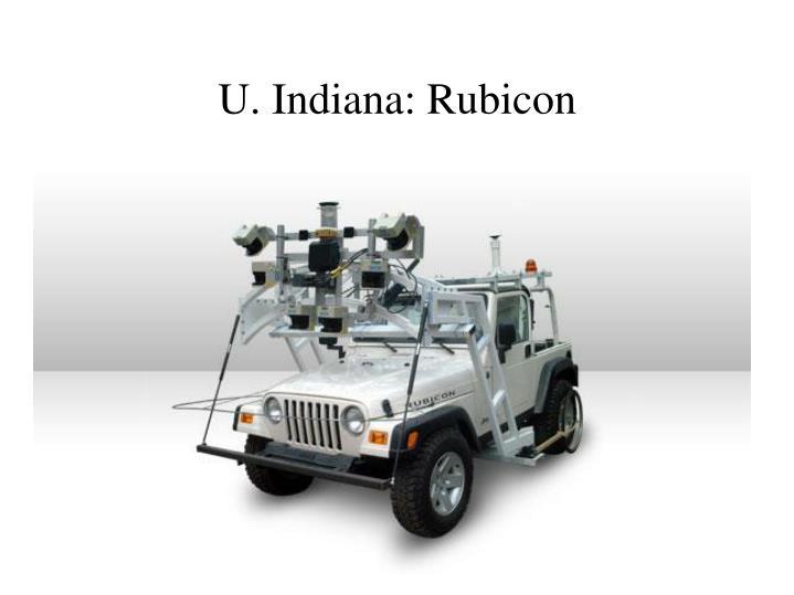 U. Indiana: Rubicon