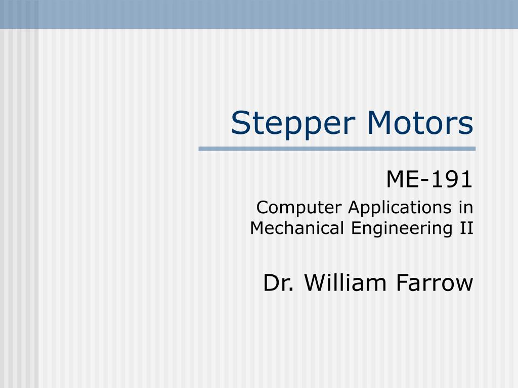 stepper motors l.