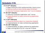 schedule 1 2