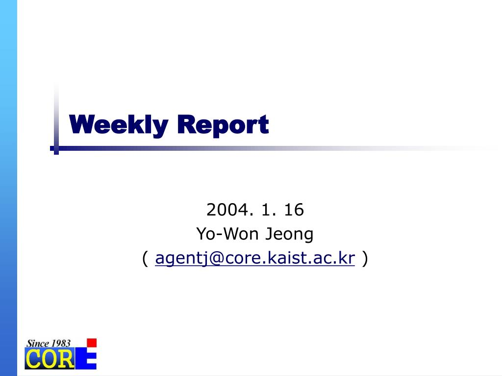 weekly report l.