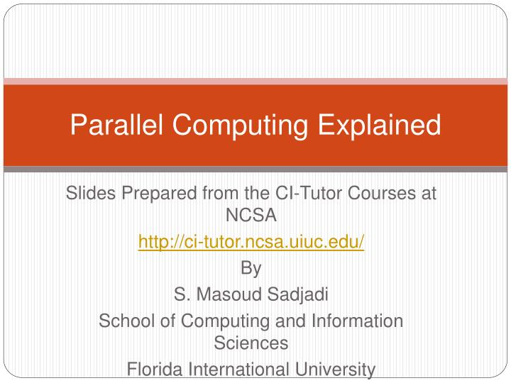 parallel computing explained n.