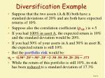 diversification example