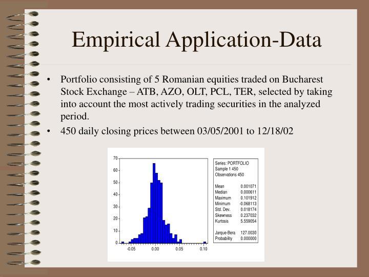 Empirical Application-Data