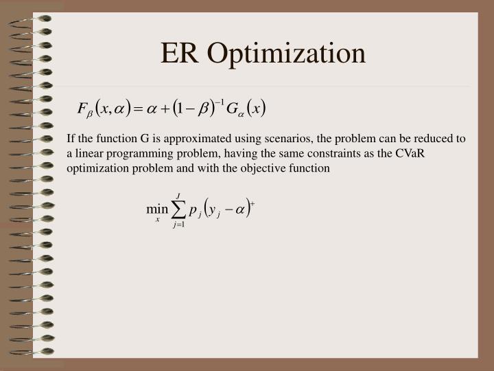 ER Optimization
