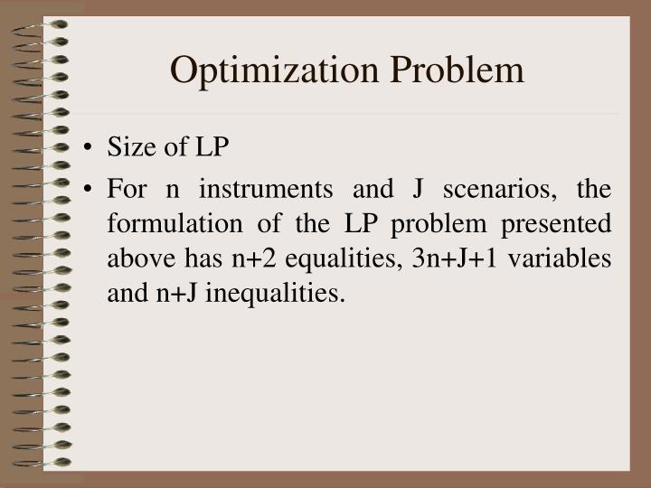 Optimization Problem